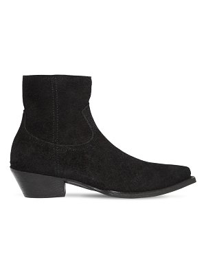 Saint Laurent 40mm lukas reversed leather ankle boots