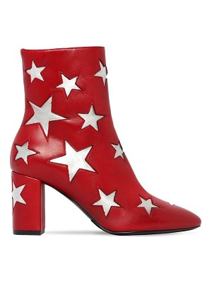 Saint Laurent 75mm mica star leather ankle boots