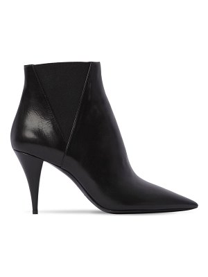 Saint Laurent 85mm kiki leather ankle boots
