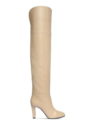 Saint Laurent 90mm jane leather over-the-knee boots