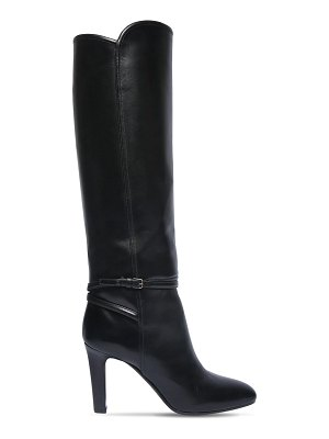 Saint Laurent 90mm jane leather tall boots