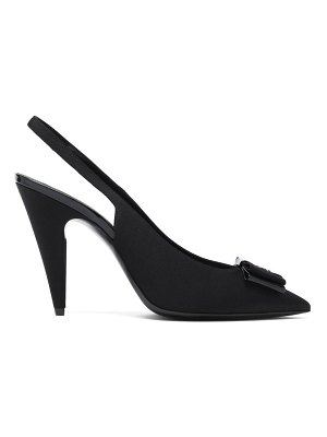 Saint Laurent anais bow grosgrain slingback pumps