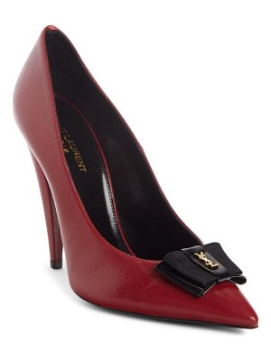 Saint Laurent anais ysl bow pointed toe pump