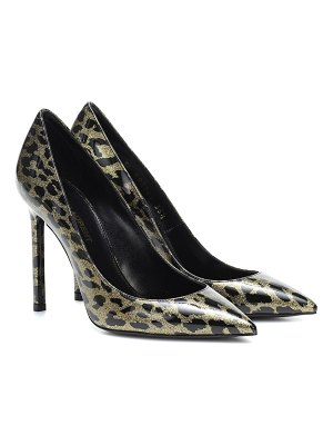 Saint Laurent anja 105 leopard-print leather pumps