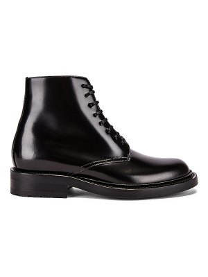 Saint Laurent army lace up leather booties