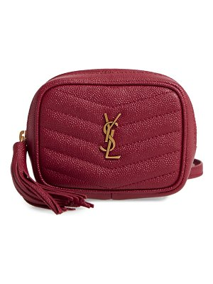 Saint Laurent baby lou quilted leather crossbody bag