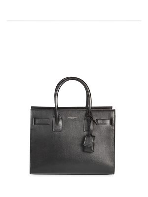 Saint Laurent baby sac de jour contrast leather satchel