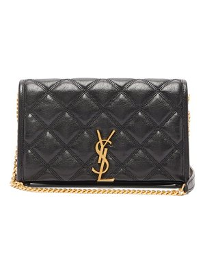 Saint Laurent becky quilted-leather cross-body bag