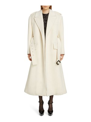 Saint Laurent belted wool trench coat