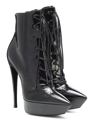 Saint Laurent betty 110 patent leather ankle boots
