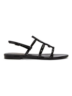 Saint Laurent black cassandra flat sandals