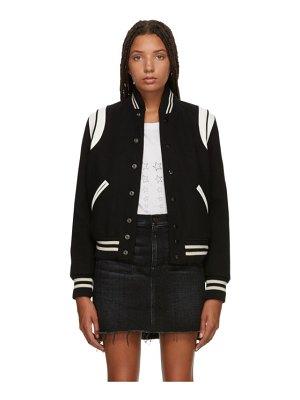 Saint Laurent black classic teddy bomber jacket