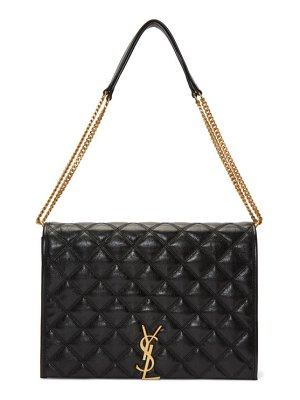 Saint Laurent black large becky bag