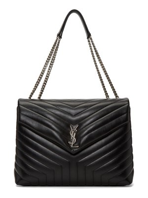 Saint Laurent black large lou lou monogramme chain bag