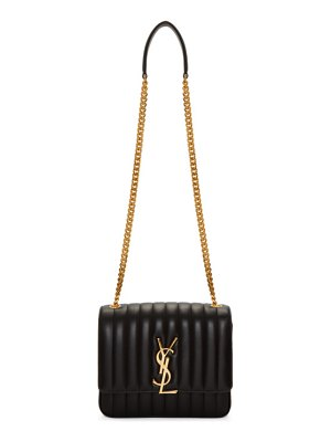Saint Laurent black large vicky monogramme chain bag