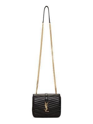 Saint Laurent black medium montaigne monogramme chain bag
