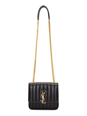 Saint Laurent black medium vicky monogramme chain bag