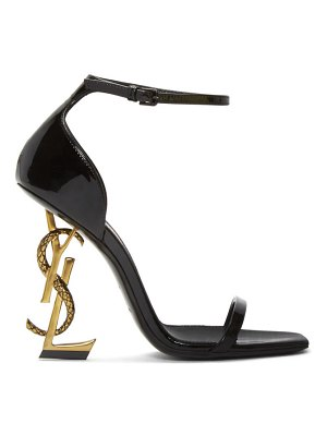 Saint Laurent black patent opyum strappy sandals