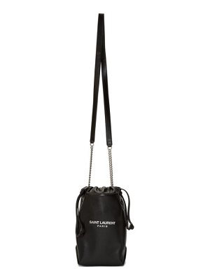 Saint Laurent black small teddy bucket bag