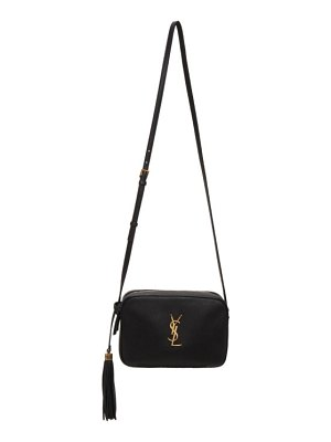 Saint Laurent black smooth lou camera bag