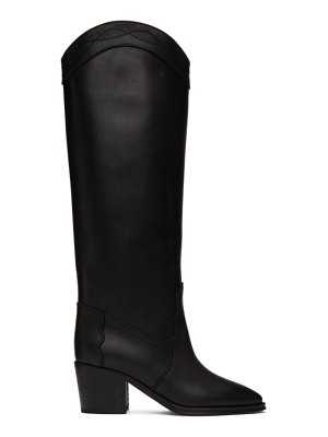 Saint Laurent black tall western kate boots