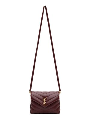Saint Laurent burgundy toy loulou bag