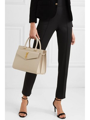 Saint Laurent cabas uptown glossed-leather tote