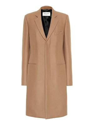 Saint Laurent camel hair coat