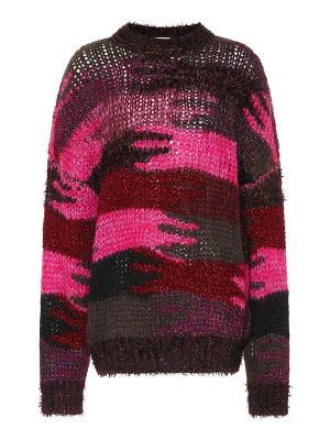 Saint Laurent camouflage wool-blend sweater