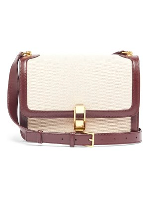 Saint Laurent carre leather and canvas cross-body bag
