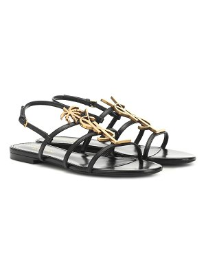 Saint Laurent cassandra 05 leather sandals