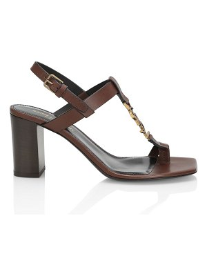 Saint Laurent cassandra leather slingback sandals