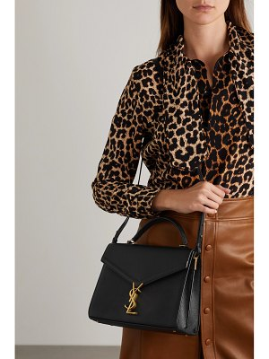 Saint Laurent cassandra medium textured-leather tote