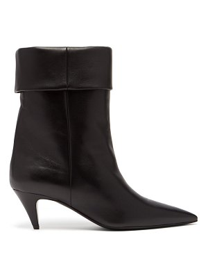 Saint Laurent charlotte 55 leather ankle boots