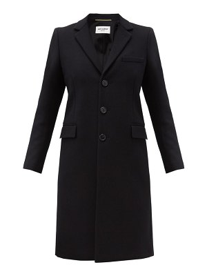 Saint Laurent chesterfield single-breasted wool coat