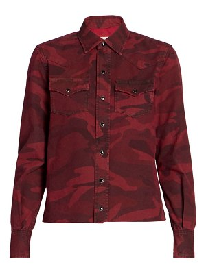 Saint Laurent classic western camo shirt