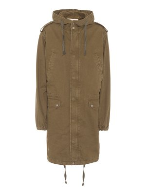 Saint Laurent Cotton and linen military parka