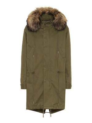 Saint Laurent Cotton-blend fur-trimmed parka