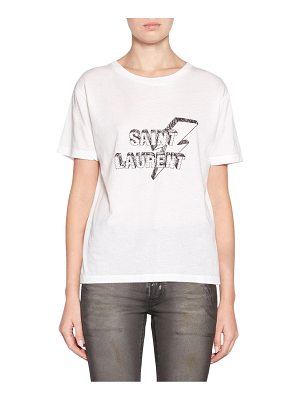 Saint Laurent cotton logo tee