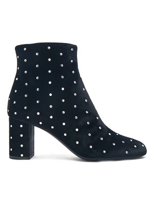 Saint Laurent Crystal Embellished Velvet Loulou Pin Boots