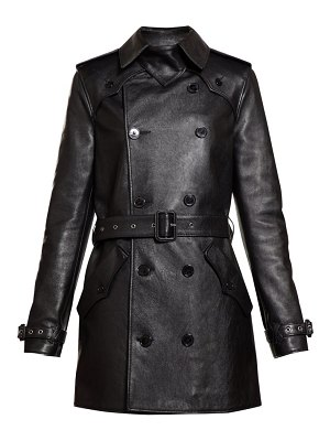 Saint Laurent double breasted leather trench coat