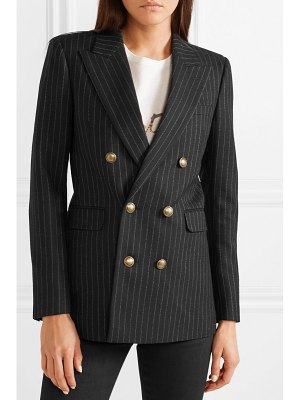 Saint Laurent double-breasted pinstriped wool blazer