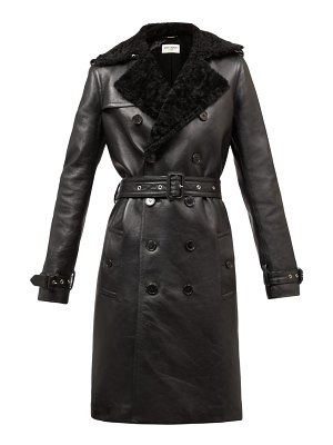 Saint Laurent double-breasted shearling trench coat