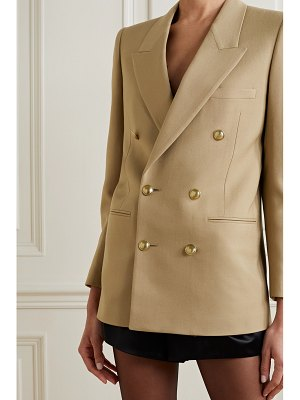 Saint Laurent double-breasted wool-twill blazer