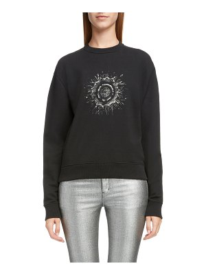 Saint Laurent embellished splatter logo sweatshirt