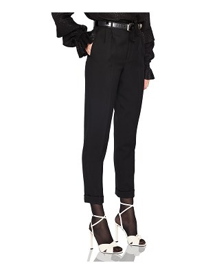Saint Laurent Gabardine High Waisted Pants