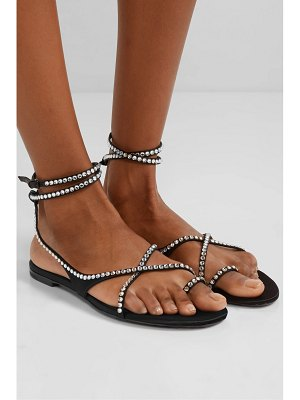 Saint Laurent gia crystal-embellished satin sandals