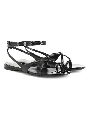 Saint Laurent gia patent leather sandals