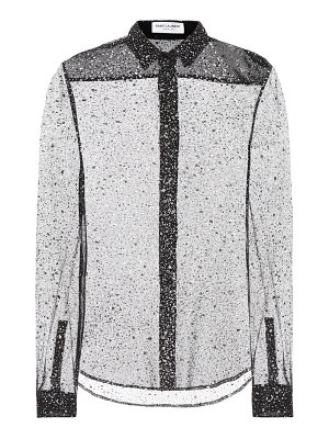 Saint Laurent glitter silk-blend shirt