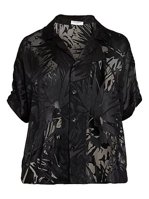 Saint Laurent graphic burnout print blouse